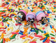 Load image into Gallery viewer, Ice Cream Earrings: Ice Cream Cone, Sprinkles, Dessert