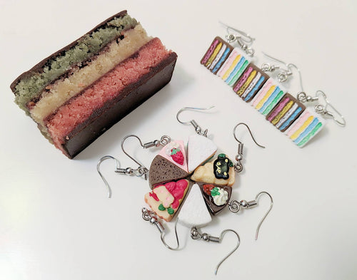 Cake Earrings: Bakery, Baked Goods, Dessert