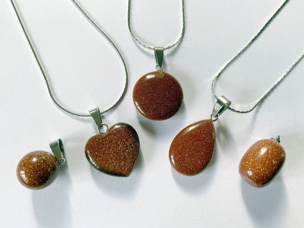 Golden Sand Stone Necklaces