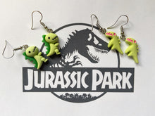Load image into Gallery viewer, Dinosaur Earrings: Animals, T-Rex, Tyrannosaurus Rex, Prehistoric, Jurassic Park