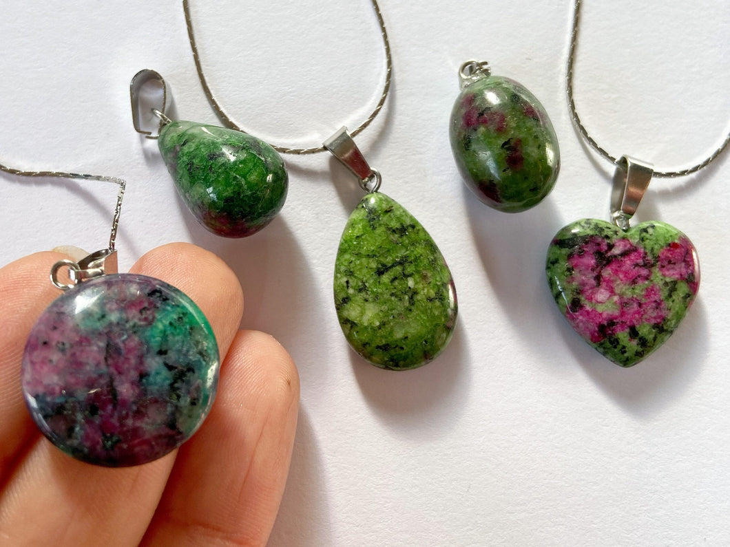 Red and Green Treasure Rock Necklaces