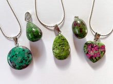 Load image into Gallery viewer, Red and Green Treasure Rock Necklaces