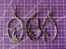 Load image into Gallery viewer, Hands Earrings: Wire Shapes, Minimalist Outline, Minimalism