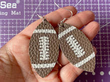 Load image into Gallery viewer, Football Earrings (Faux Leather): Sports, NFL, Tailgate, Tailgating