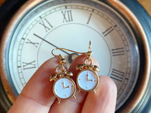Load image into Gallery viewer, Alarm Clock Earrings: Time, Furniture, Household
