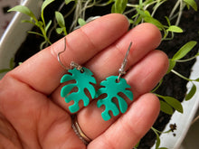 Load image into Gallery viewer, Leaf Earrings: Nature, Leaves, Green, Botany, Plants
