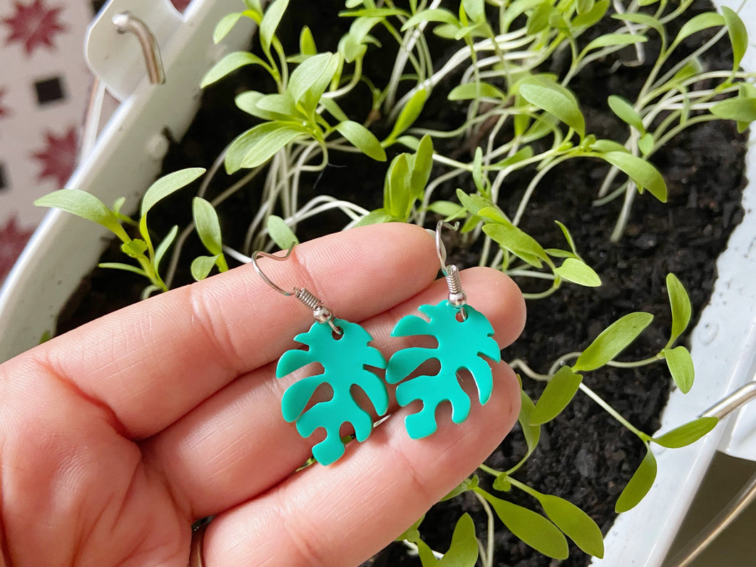 Leaf Earrings: Nature, Leaves, Green, Botany, Plants