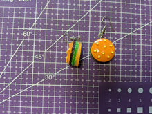 Load image into Gallery viewer, Burger Earrings: Hamburger, Burgers, Fast Food
