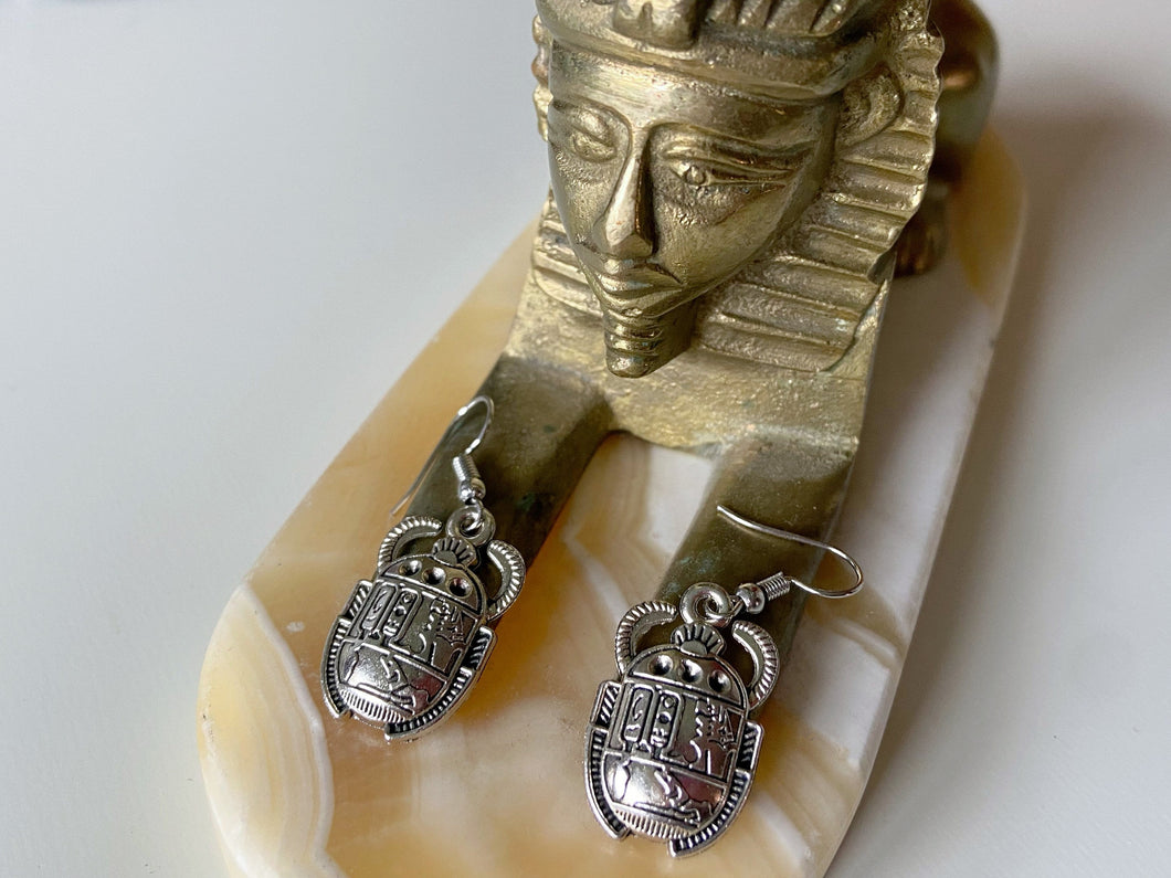 Egyptian Scarab Beetle Earrings: Insects, Egypt