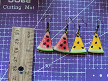 Load image into Gallery viewer, Watermelon Earrings: Fruit, Summer Vibes