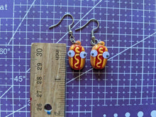 Load image into Gallery viewer, Hot Dog Earrings: Fast Food, Ssausage, Snack