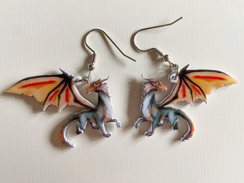 Dragon Earrings: Animals, Magic, Dragons, Folklore, Magical
