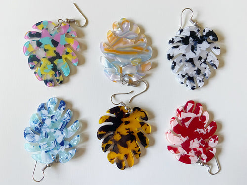 Resin Earrings: Elegant, Modern, Colorful, Lightweight