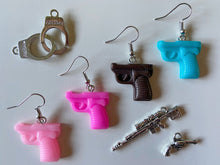 Load image into Gallery viewer, Toy Squirt Gun Earrings: Toy Weapon, Play, Water Gun, Summer Vibes