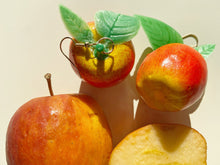 Load image into Gallery viewer, Apple Earrings: Fruit, Apples (Giant Lightweight)