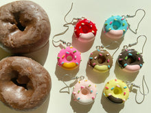 Load image into Gallery viewer, Donut Earrings: Donuts, Dessert, Pastry, Bakery