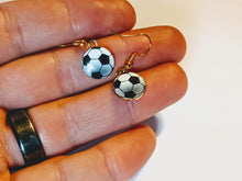 Load image into Gallery viewer, Soccer Ball Earrings: Sport, Football, FIFA