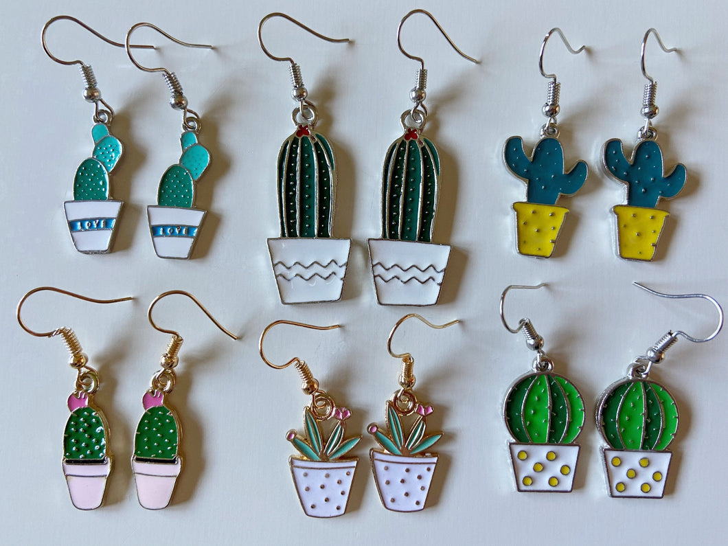 Cactus Earrings: Cacti, House Plants, Greenhouse, Succulents, Botany