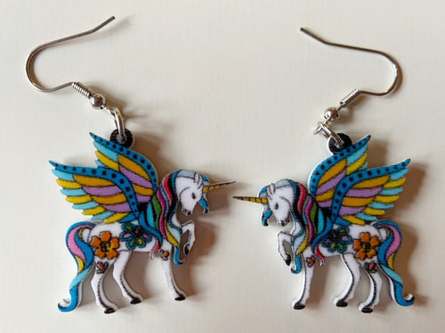 Unicorn Earrings: Mystical Creatures, Pegasus, Magic, Magical, Animals