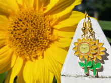 Load image into Gallery viewer, Sunflower Earrings: Flower, Floral, Plant, Botany, Garden, Summer Vibes