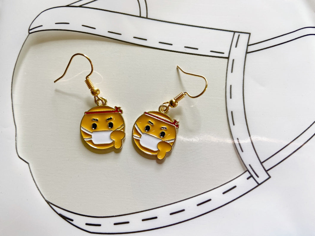 Face Mask Emoji Earrings: Nurse, Doctor, Safety, Medical, Medicine