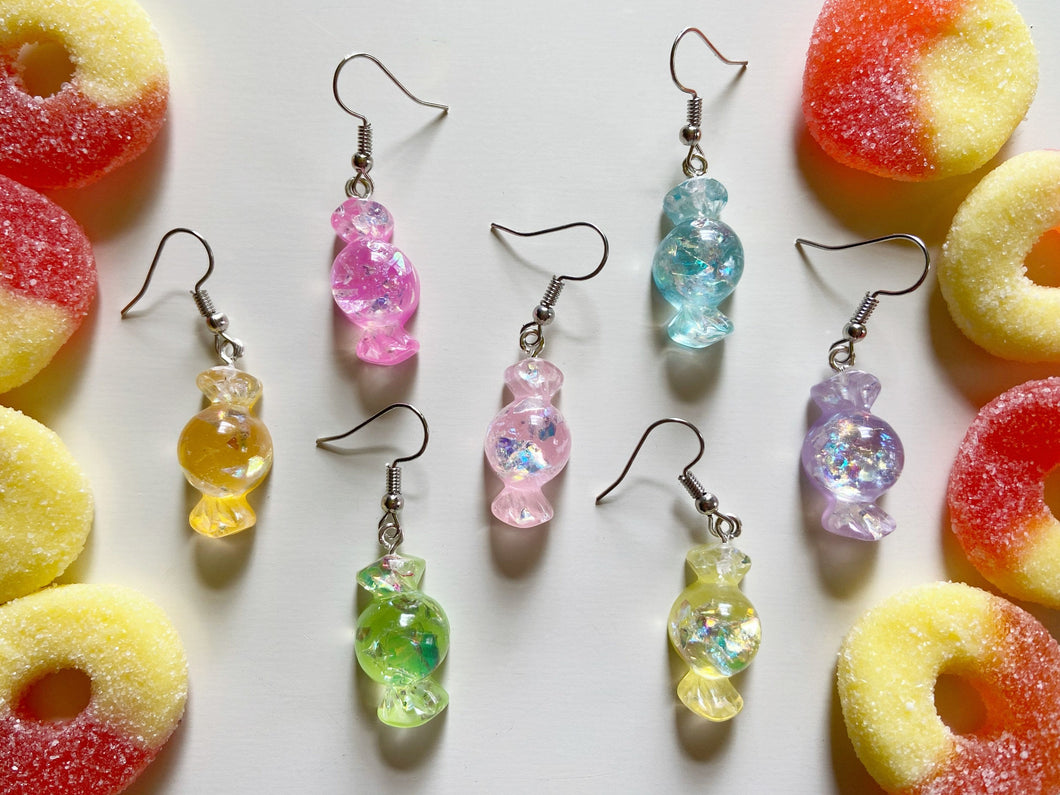 Hard Candy Earrings: Candies, Dessert, Sweets