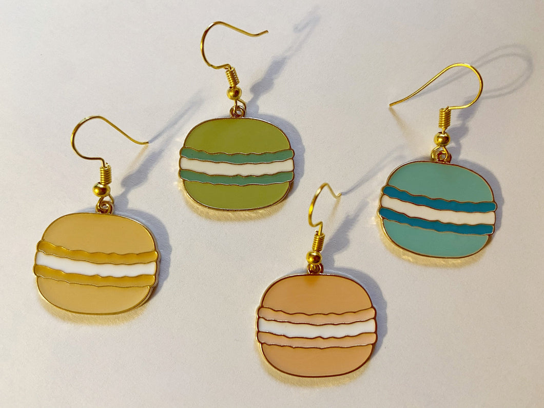 Macaron Earrings: Dessert, Macaroons, Pastry, Bakery, Sweet