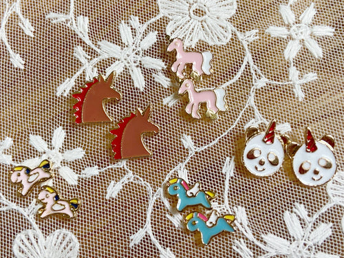 Unicorn Stud Earrings: Unicorns, Magic, Fantasy, Fairy Tale, Magical