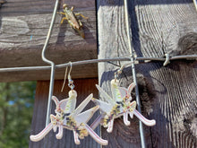 Load image into Gallery viewer, Praying Mantis Insect Earrings: Bug, Insects, Entomology
