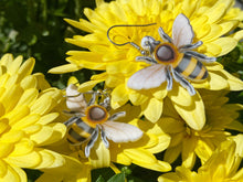 Load image into Gallery viewer, Honey Bee Earrings: Bumblebees, Honeybees, Insects
