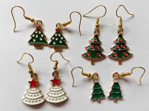 Christmas Tree Earrings: X-mas, Winter, Holidays