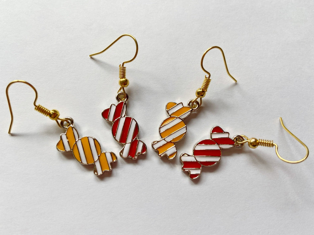 Candy Earrings: Trick or Treat, Halloween, Dessert, Candies, Sweet Tooth