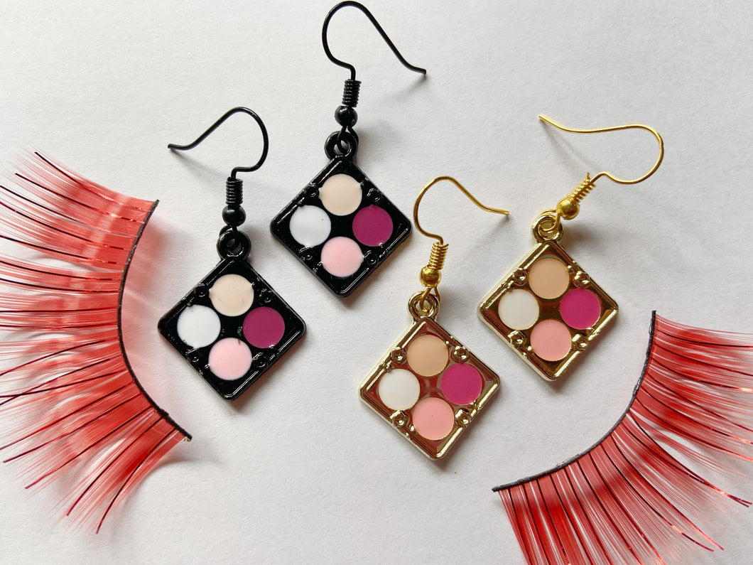 Eye Shadow Palette Earrings: Beauty, Makeup, Fashion, Boss Babe