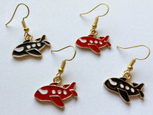 Load image into Gallery viewer, Plane Earrings: Fly, Travel, Traveler, Air Plane, Transportation