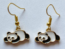 Load image into Gallery viewer, Panda Bear Earrings: Chinese Animals, China, Zoology