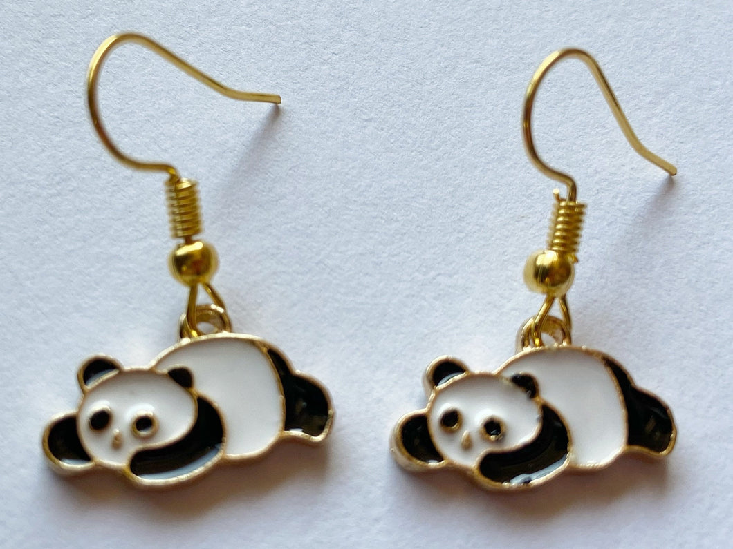 Panda Bear Earrings: Chinese Animals, China, Zoology