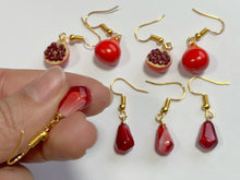 Load image into Gallery viewer, Pomegranate Earrings: Fruit, Summer Vibes, Pomegranates, Seeds