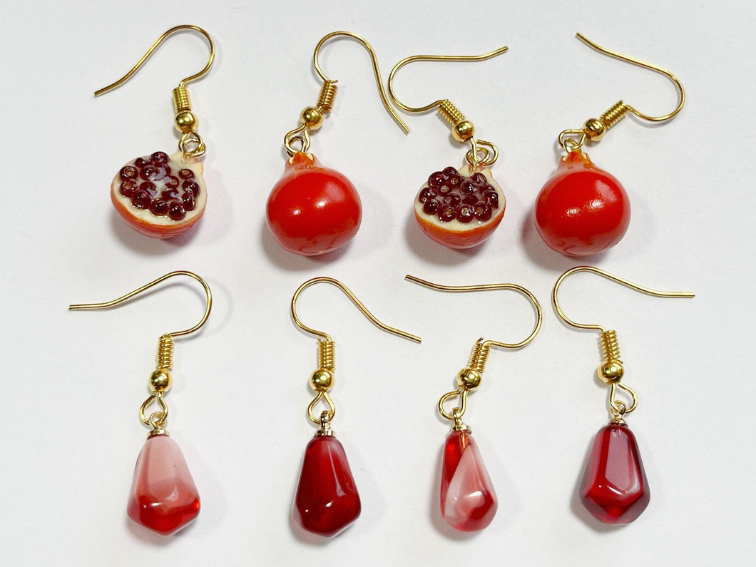 Pomegranate Earrings: Fruit, Summer Vibes, Pomegranates, Seeds