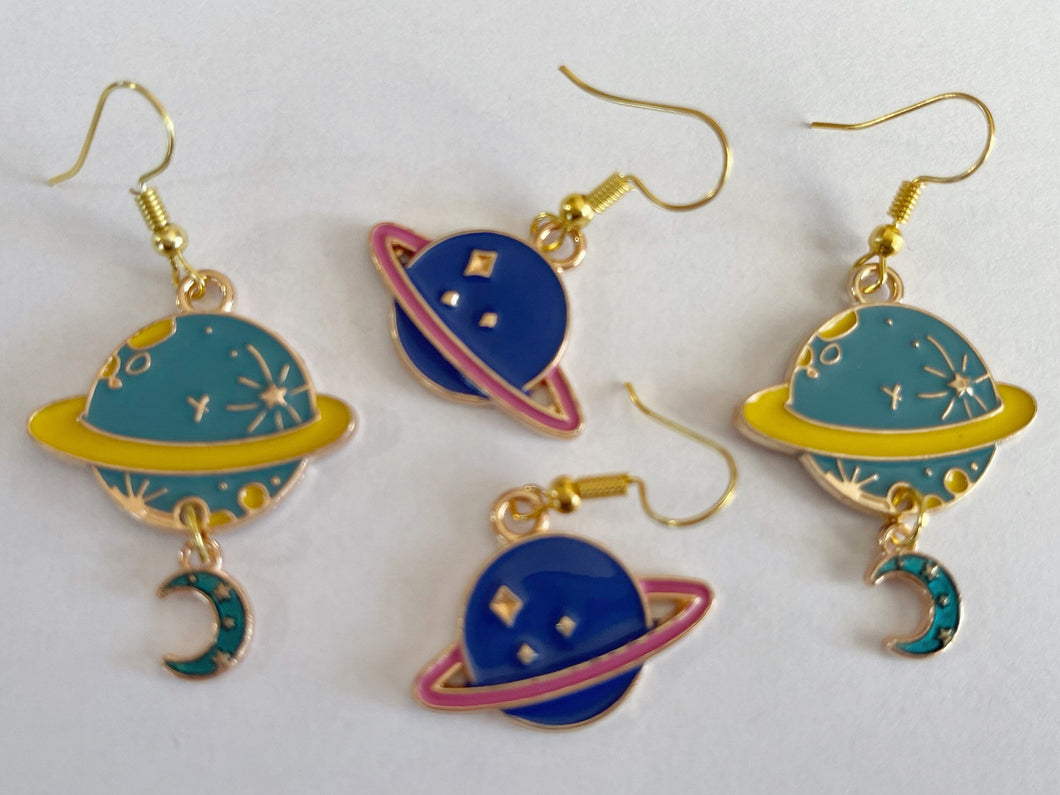 Planet Earrings: Space, Astronomy, Planets, Spaceship