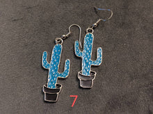 Load image into Gallery viewer, Cactus Earrings: Cacti, House Plants, Greenhouse, Succulents, Botany