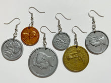 Load image into Gallery viewer, US Coin Earrings: Money, Dollar, Penny, Quarter, Dime, Nickel, USA Currency