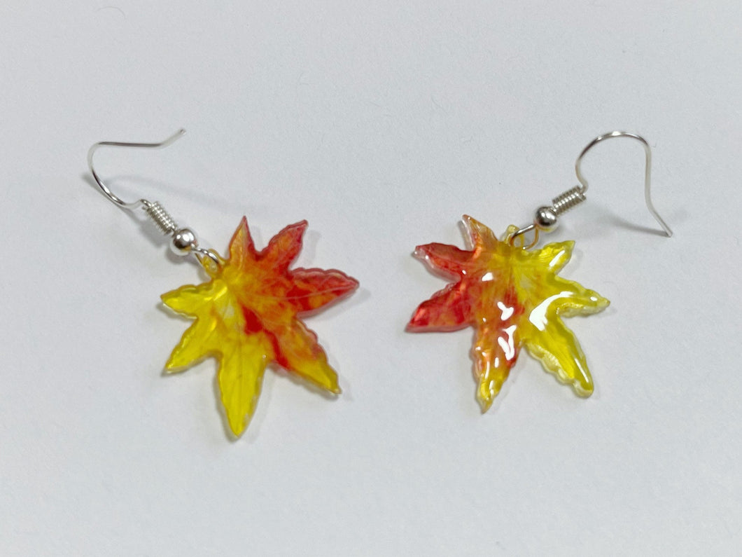 Maple Leaf Earrings: Fall, Autumn, Leaves, Nature, Botany, Trees