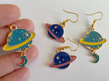 Load image into Gallery viewer, Planet Earrings: Space, Astronomy, Planets, Spaceship