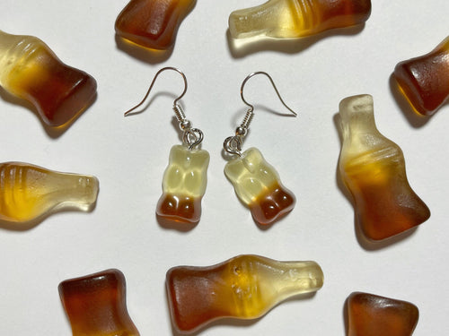Coke Gummy Bear Earrings: Candy, Treat, Dessert, Gummies