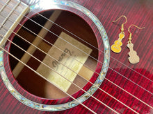 Load image into Gallery viewer, Guitar Earrings: Musical, Music, Musician, Play, Instrument, Concert, Band