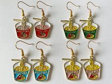 Load image into Gallery viewer, Ramen Noodle Earrings: Japanese Food, Asian Food, Soup