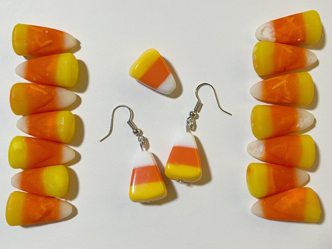 Candy Corn Earrings: Trick or Treat, Halloween, Dessert, Candies, Sweet Tooth