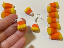 Load image into Gallery viewer, Candy Corn Earrings: Trick or Treat, Halloween, Dessert, Candies, Sweet Tooth