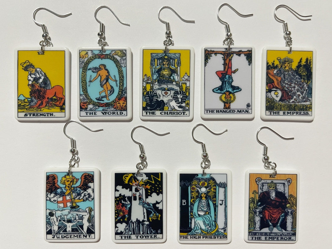 Tarot Card Earrings: Game Night, Cards, Play, Fortune Telling, Card Reading
