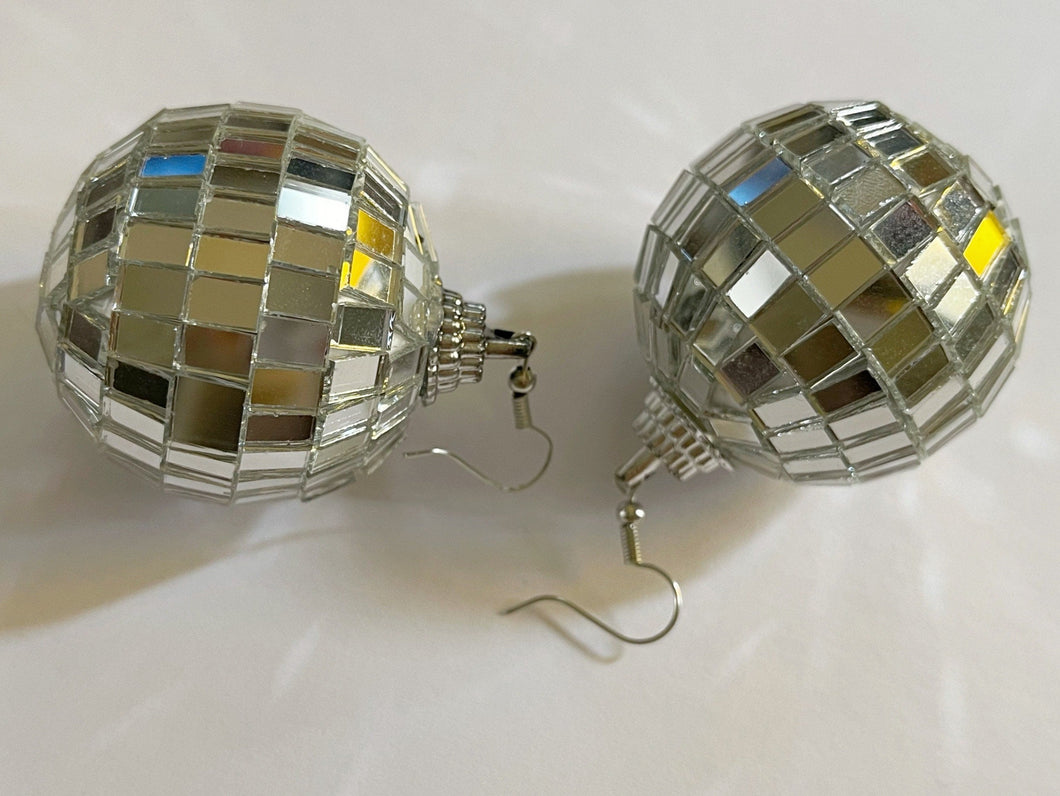 Disco Ball Earrings: Music, Musical, Retro, Party, Celebrate